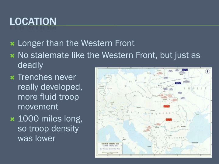 Longer than the Western Front