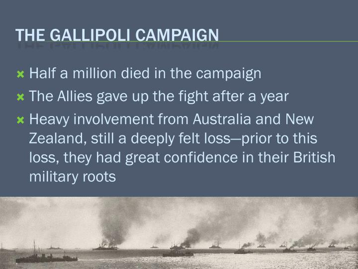 Half a million died in the campaign