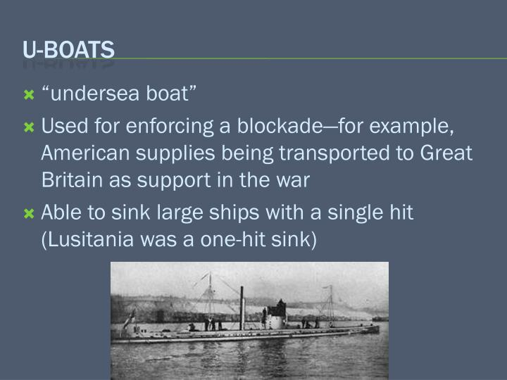"""""""undersea boat"""""""