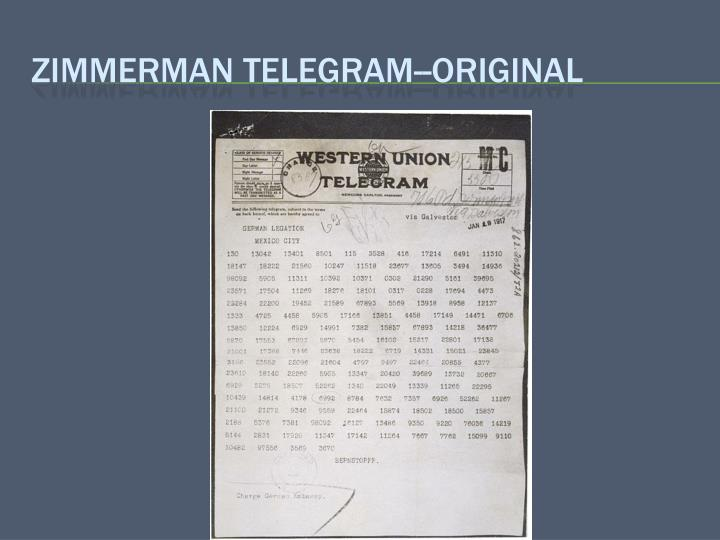 Zimmerman telegram--Original
