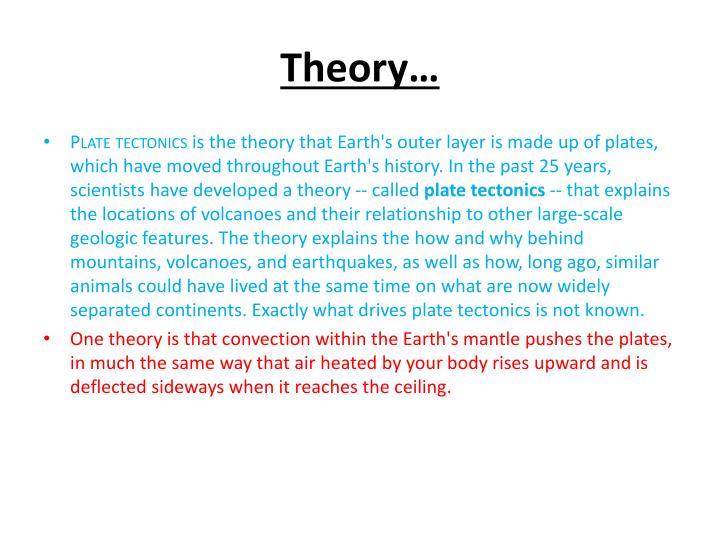Theory…