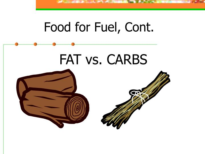 Food for Fuel, Cont.