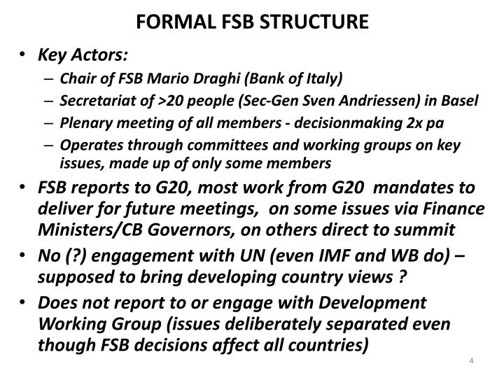 FORMAL FSB STRUCTURE