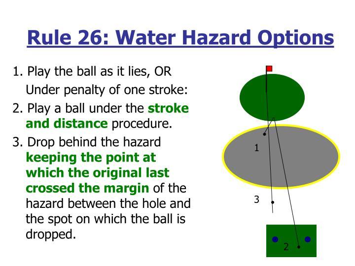 Rule 26: Water Hazard Options