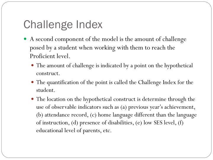 Challenge Index