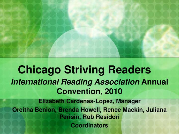 Chicago Striving Readers