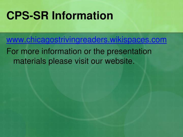 CPS-SR Information