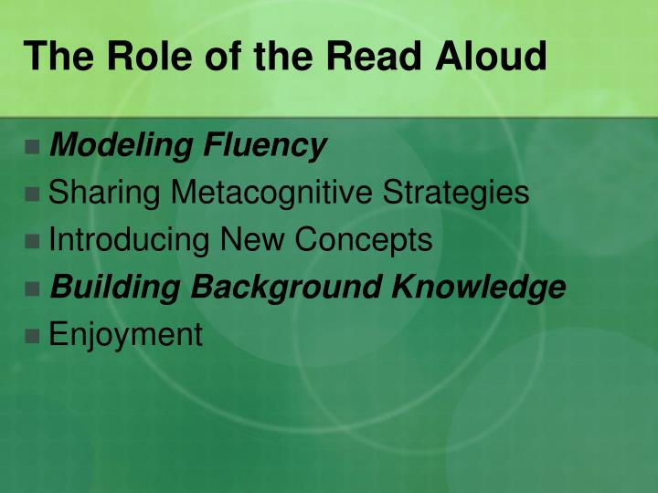 The Role of the Read Aloud