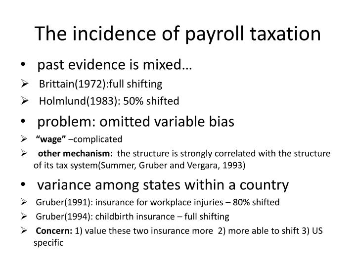 The incidence of payroll taxation