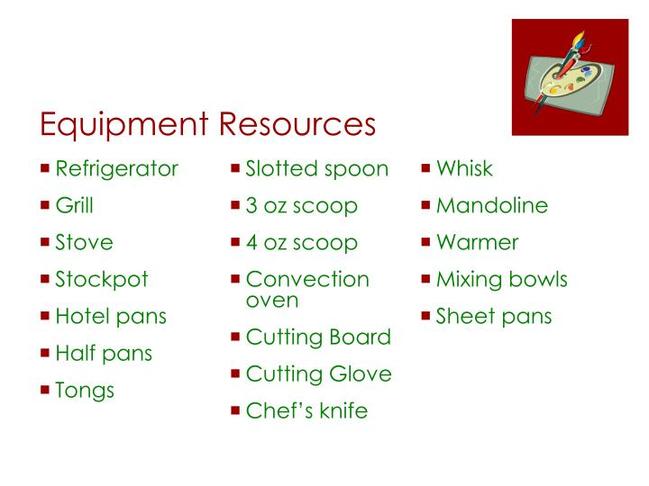 Equipment Resources