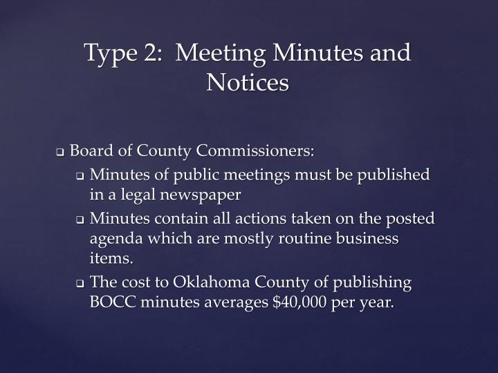 Board of County Commissioners: