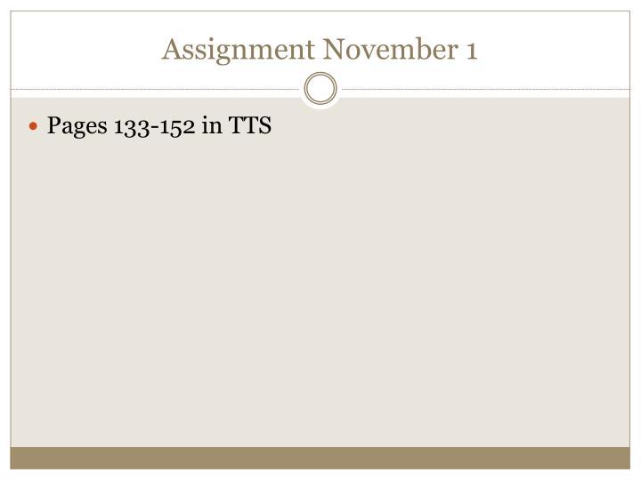 Assignment November 1