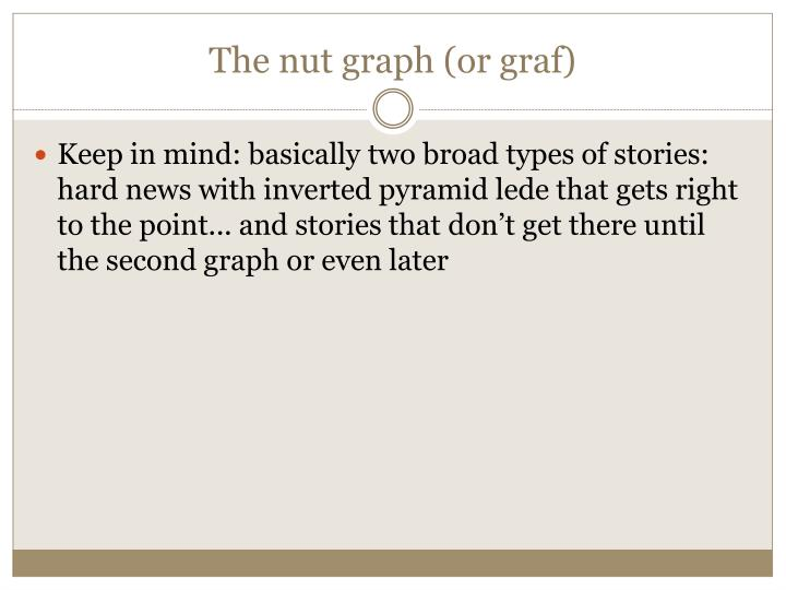 The nut graph (or