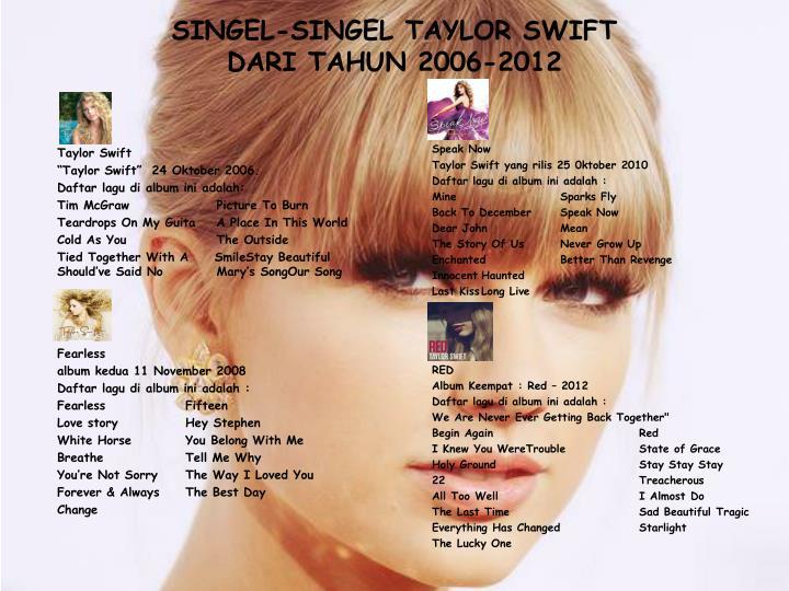 SINGEL-SINGEL TAYLOR SWIFT