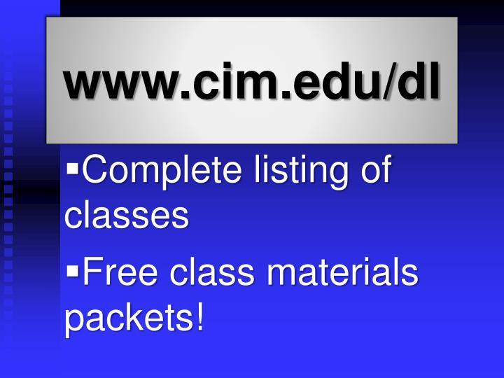www.cim.edu/dl