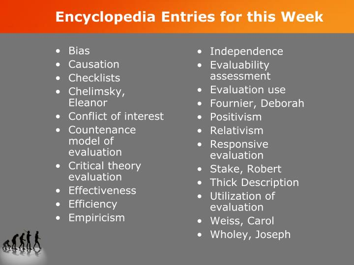 Encyclopedia Entries for this Week