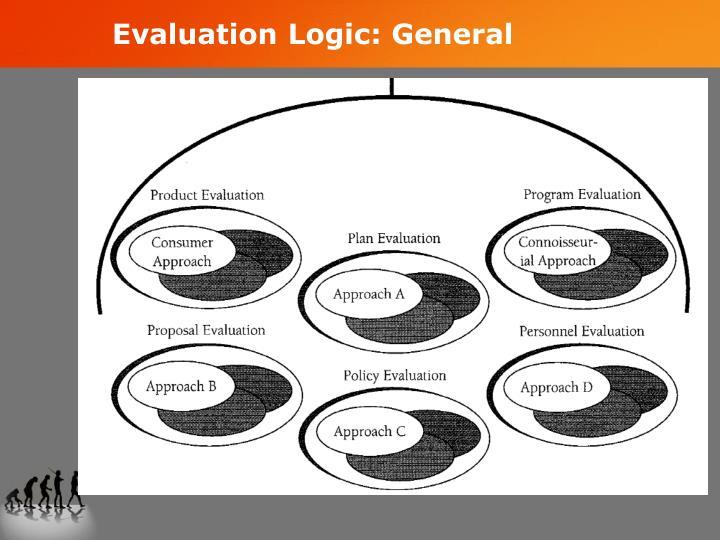 Evaluation Logic: General