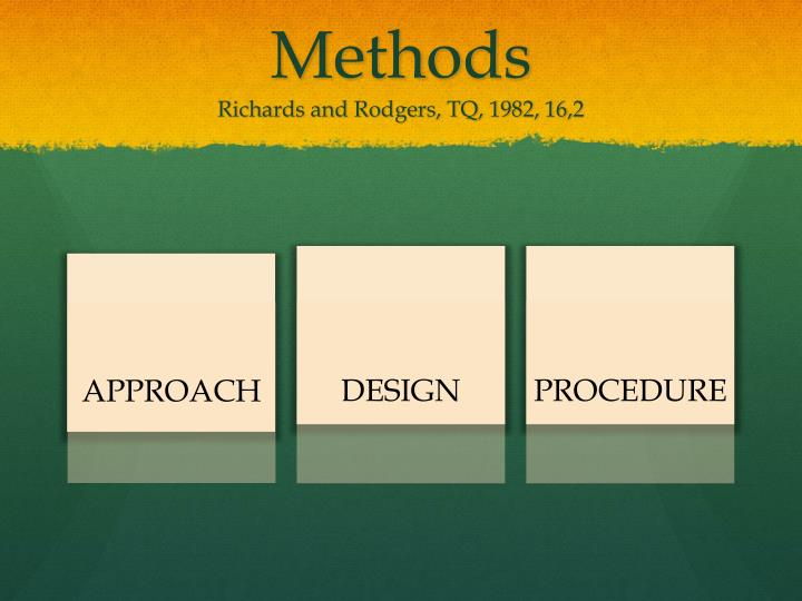 Methods richards and rodgers tq 1982 16 2