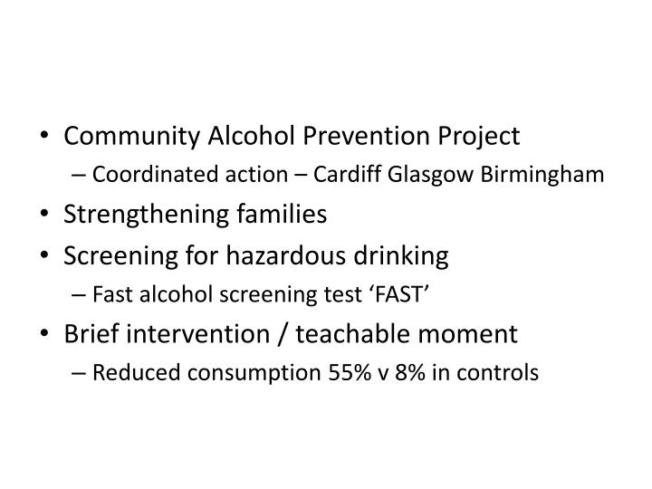 Community Alcohol Prevention Project