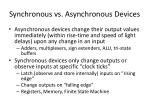 synchronous vs asynchronous devices