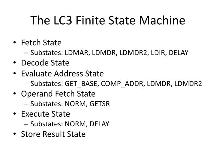 The LC3 Finite State Machine