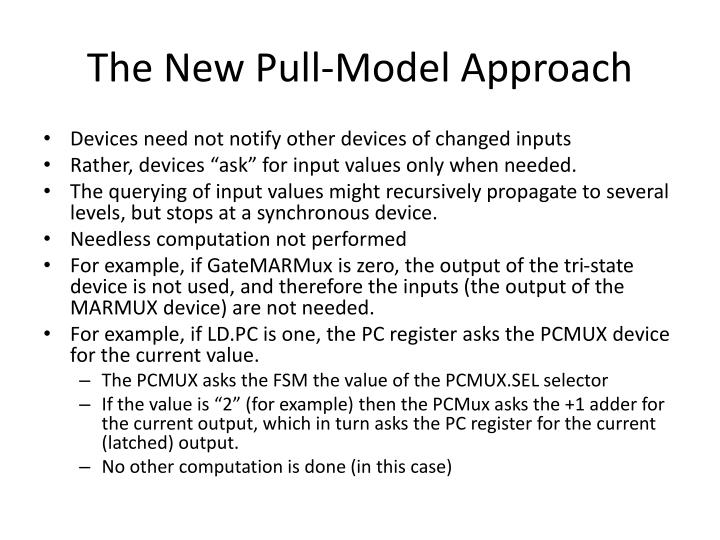 The New Pull-Model Approach