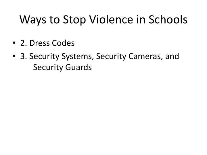 Ways to Stop Violence in Schools