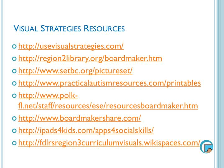 Visual Strategies Resources