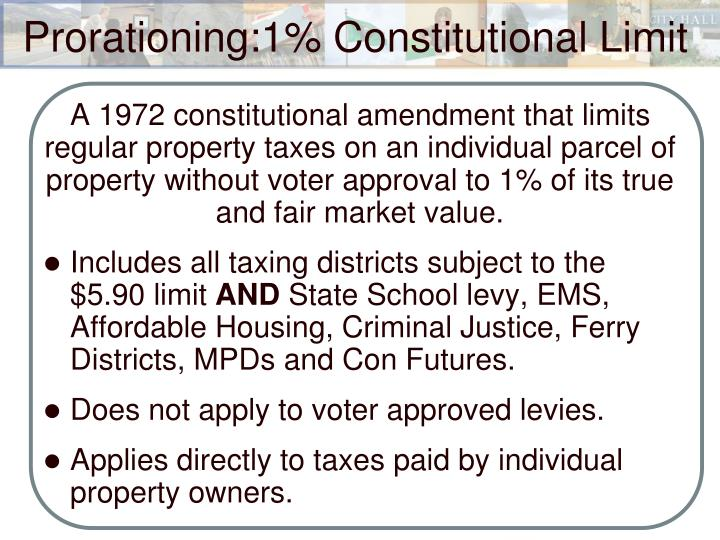 A 1972 constitutional amendment that limits regular