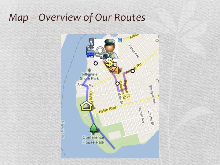 Map – Overview of Our Routes