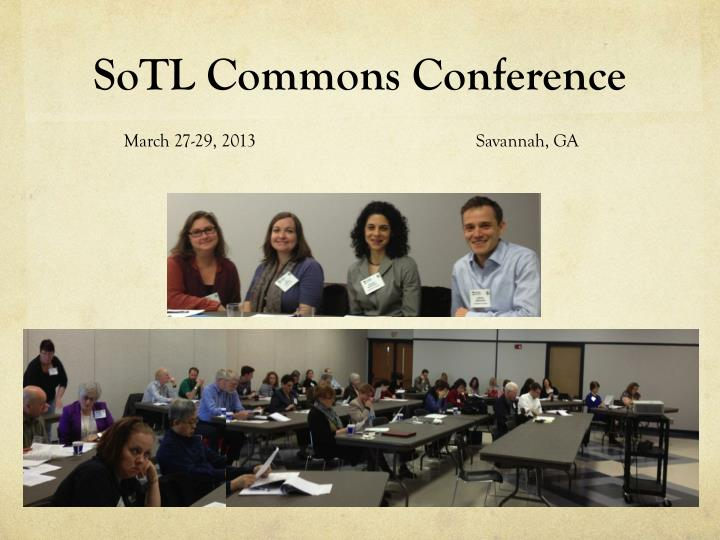SoTL Commons Conference