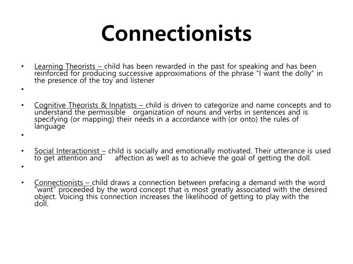 Connectionists