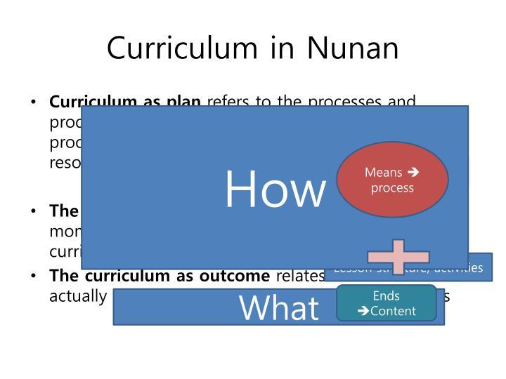 Curriculum in
