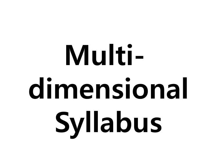 Multi-dimensional Syllabus