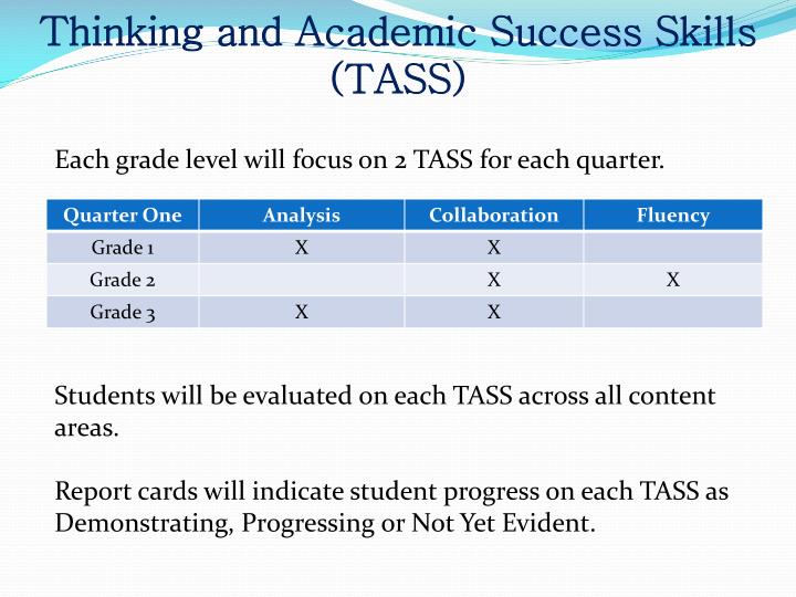 Thinking and Academic Success Skills (
