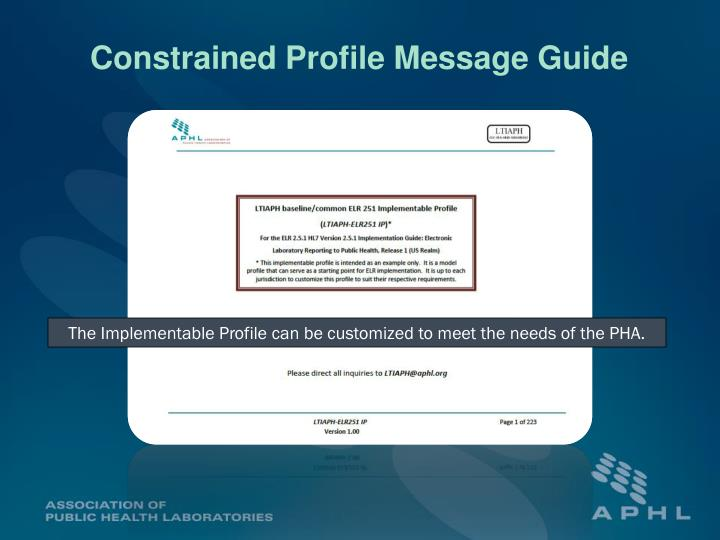 Constrained Profile Message Guide