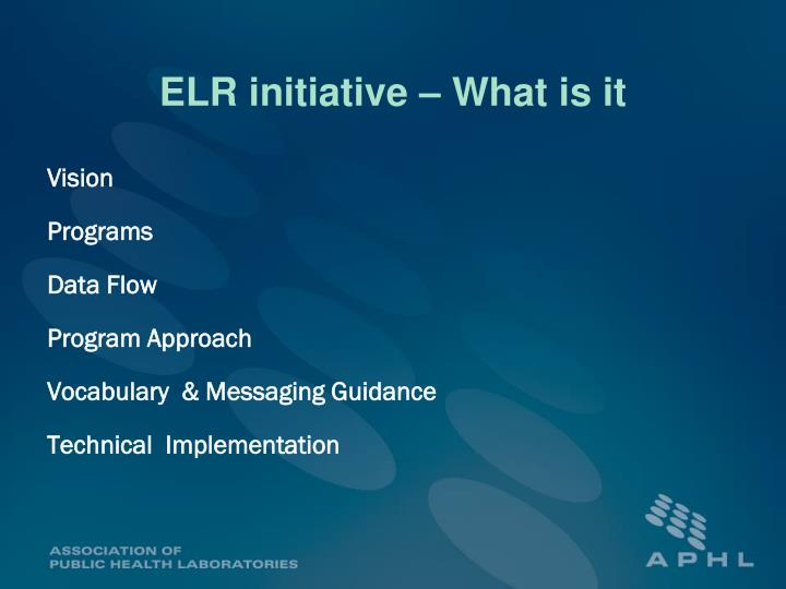 ELR initiative – What is it