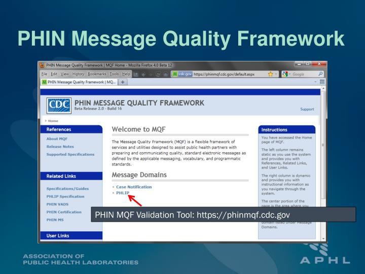 PHIN Message Quality Framework