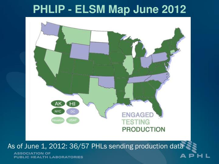 PHLIP - ELSM Map June 2012