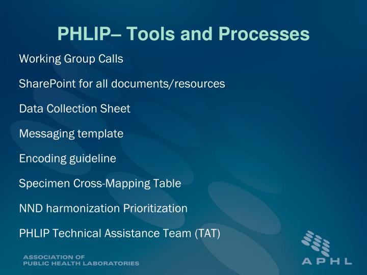 PHLIP– Tools and Processes