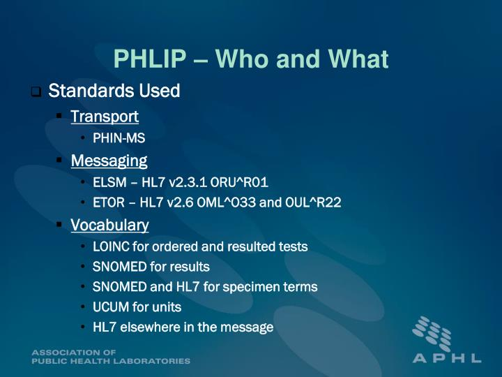 PHLIP – Who and What