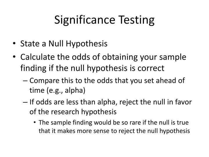 Significance Testing