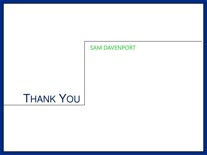 SAM DAVENPORT