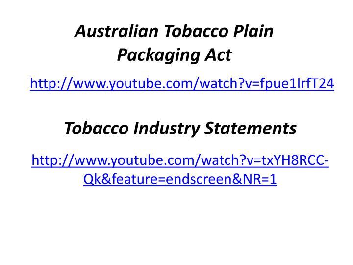 Australian Tobacco Plain Packaging Act