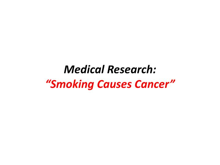 Medical Research: