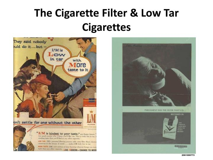 The Cigarette Filter & Low Tar Cigarettes