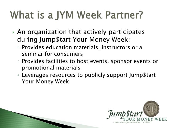 What is a JYM Week Partner?