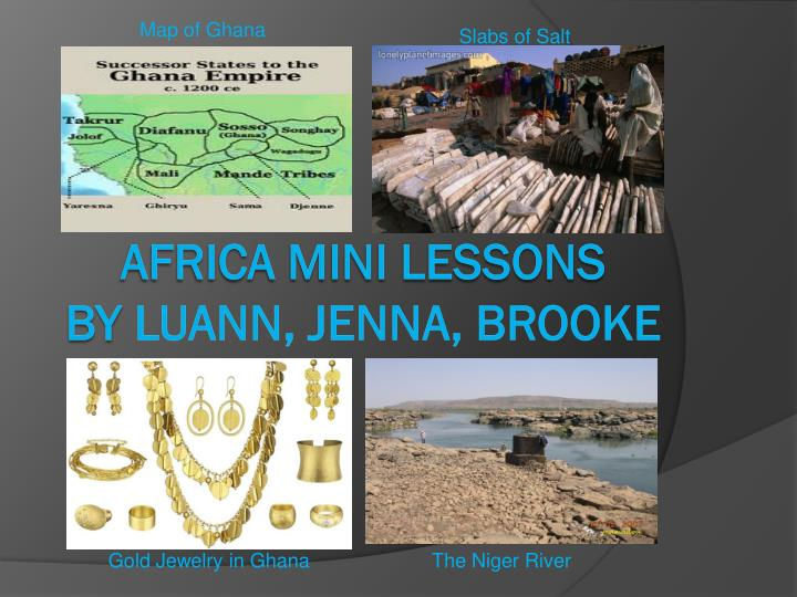 Africa mini lessons by luann jenna brooke