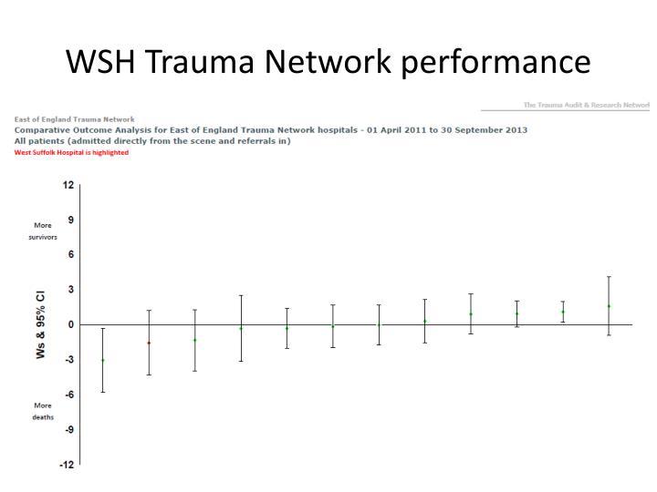 WSH Trauma Network performance