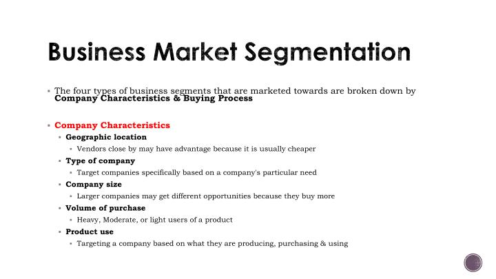 Business Market Segmentation